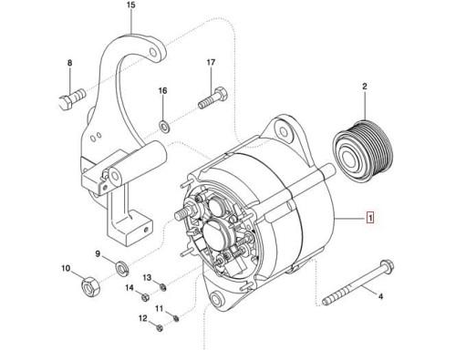 Alternator 135a New Holland Case 86994128